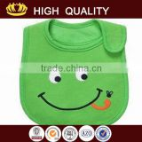 wholesale soft 100% cotton new born baby bib