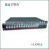 CCTV Video Multiplexer with 2U 16 Slots Chassis and Dual-power Supply for Video Modules