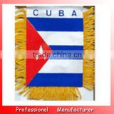 8*12cm flag banner,CUBA felt national pennants,hanging flag with suction