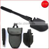Multifunction Military Folding Shovel with Carrying Pouch Multi Purpose Tactical Army Trench Shovel Survival Steel Spade