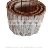 bark pot garden basket for planting flower