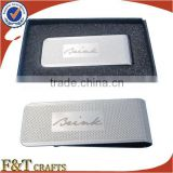 High quality custom plating nickle laser logo metal money clip/money clip wholesale/custom money clip