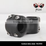 Carbon fiber bike stem for fork and handlebar