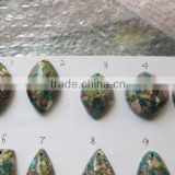 Blue imperial jasper mixed shape and size S shape pendants,semi precious stone jewelry sets, factory direct wholesale