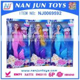 Funny Articulated Dress-up Mermaid Barbie Dolls Lovely Clothes Display doll with light effect
