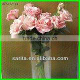 factory direct sale real touch silk flowers with pink colors