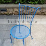 French outdoor iron chair, wire metallic garden set, wire outdoor furniture