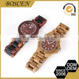 2016 Boscen Vintage Customize Good Prices Luxury Wooden Wood Watches Automatic