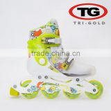 Hot sales Adjustable new fashion design inline skate kids high quality green colorful roller skate