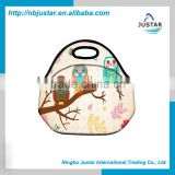 Wholesale OEM Custom Pattern Insulated Cooler Lunch Pack Neoprene Lunch Tote Bag                                                                         Quality Choice