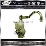 Jade With Brass Material Fashionable Pull Out Kitchen Faucet