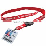 Decorative Ribbon Screen Printing Lanyard with logo,Polyester Custom Lanyard with card holder.