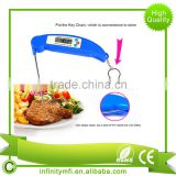 Instant Read Meat Thermometer. Ultra Fast Digital Cooking Tool With BBQ Internal Temperature Chart