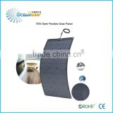 Never worry about electric shortage semi flexible solar panel deal solar battery free energy supply