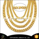 all size14k gold plated cuban chain stainles steel rock statement chain necklace for men                                                                         Quality Choice