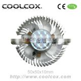 CoolCox Graphic card cooler fan 50x50x10mm,VGA cooler fan,VC-AL5002,for nvidia Geforce,ATI Radeon,SIS,hole distance 60mm