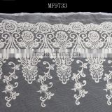 MF9733 Off White Lace Fabric-Bridal-White Color-Floral-Embroidery-Sewing--Fabric