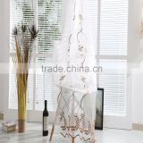 Home hanging sheer curtains voile embroidered fabric drapery