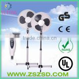 16 inch oscillating stand fan with cross base