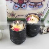 Brand new water proof homeware marble candle jar designed with lid for stone cups candle holder