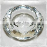 Glass Round Crystal Candle Holder For Banquet Centerpieces