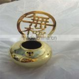 Gold-plated round ball metal Taoism products die casting hardware parts in gold plating finished