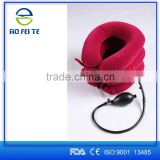 Free sample flannel single tube three layers inflatable cervical collar, air neck brace traction