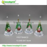 China supplies set 4 Christmas decoration tree, led light Christmas tree, artificial tree with santa