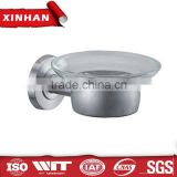 wholesale bathroom accessories round base soap dish, glass dish bath hardware accessory set