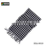 Pure Mongolian Cashmere Scarf, White And Black Latticed Scarf