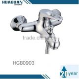 Luxury Single Hole Brass Chrome Plated Bathtub Mixer wtih Water Saving Kit and S-connectors and Flanges in Manufactory