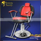Red and black reclining barber chairs and stations wholesale (BN-B50)