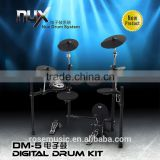 High quality 64 voices backlit LCD display NUX digital Electronic Drum Set (DM-5)