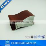 Wood color aluminum 6063 alloy material aluminium extrusion profiles making kitchen cabinet
