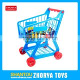 HQ pretend play toys Preschool toys boys supermarket cart play set with box and plastic vegetable fruit
