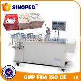 SINOPED BTB-1 semi automatic BOPP heat sealing film box cellophane 3d packing machine