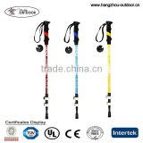 2015 Newest Cheap Retractable EVA Handle Carbon Fiber Trekking Pole/Alpenstock/Walking Sticks