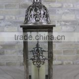 New Iron Candle Lantern Wholesale Antique Vintage Style Metal White Lantern