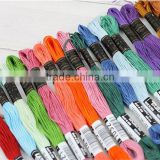 150828003 Factory hot sales DMC colors cross stitch floss polyester thread embroidery thread