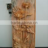 Hand carved flowers relief