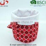 New design flowers printing linen and felt planter pot cover bags