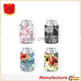 2017 Colorful Customized Color Beer/Drink Beverage Sleeve Holder Flower Thick Neoprene Wedding/Birthday/Party Gift Can Cooler