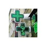 Heat release China RF/ Bluetooth controller P16 outdoor green pharmacy led sign display