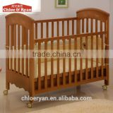 Carved teak wood baby swing cradle bed the round inflatable baby bed
