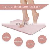 Natural Diatomite Water Absorbent Foot Pad Fast Dry Bath Ground Mat Anti-Slip Bathroom Floor Cushion