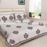 Designer Handmade royal printed Jaipuri King Size Bedsheet with 2 Pillow Covers