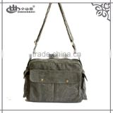 Chinese military army durable canvas fashion cheap factory price unisex lovers messanger bag