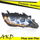 AKD Car Styling New Arrival Toyota Camry V55 Headlights 2015 Camry LED Head Lamp Projector Bi Xenon Hid H7
