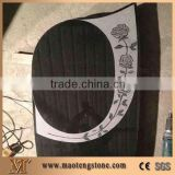 China Black Granite Carving Headstones,Cemetery Engraved Tombstones, Memorial Stone Gravestone