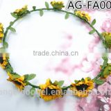 Cute girls silk flower headbands,belly dance hair accessories AG-FA0013